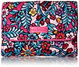 Vera Bradley Signature Cotton Riley Compact Wallet with RFID Protection, Kaleidoscope