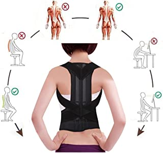 Back Posture Corrector Adjustable Clavicle Brace Comfortable Correct Shoulder Posture Support Strap for Women and Men Improve Posture Correction (S)