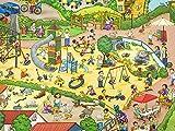 Glünz Jersey Zoo Nordhorn Wimmelbuch /0,5 m/Kinderstoff /