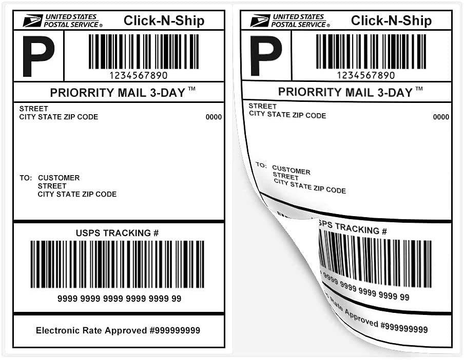 """Essential Laser Label Paper Half Sheet Self Adhesive Shipping Labels 8-1/2"""" X 5-1/2"""" Address Labels for Laser & Inkjet Printers (100 Sheet-200 Labels) : Office Products"""
