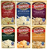 Idahoan Flavored Mashed Potatoes, Variety Bundle, 4 oz (Pack of 6) includes Butter & Herb Mashed +...