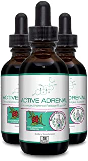 Active Adrenal - Advanced Adrenal Fatigue Supplement All Natural Liquid Formula for 2X Absorption Ashwagandha, B-Vitamins,...