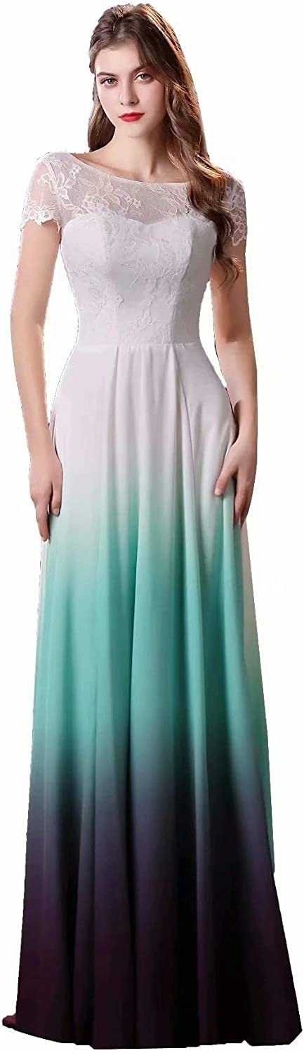 FTBY Women's Ombre Homecoming Dress Short Prom Gown Gradient Cocktail Dress