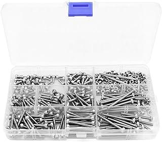Yuhtech 440 stuks schroeven set M3 roestvrij stalen zeskantkop schroeven moeren + 2 moersleutels