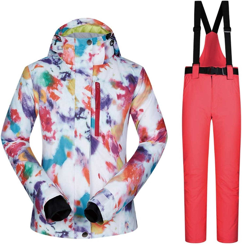 Lokijuge Women's Snowsuit Winter Ski Jacket and Pants Set Windproof & Waterproof