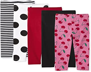 The Children's Place Baby Toddler Girl Print Knit Leggings 5-Pack