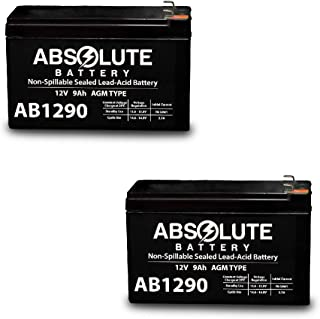 2 Pack AB1290 12V 9AH SLA Battery Replacement for Tempest TR9-12