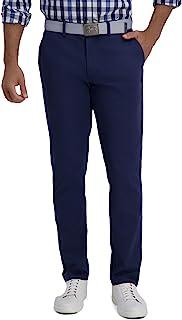Sponsored Ad - Haggar Men's Motion Khaki Slim-Straight Fit Active Flex Flat Front Pant