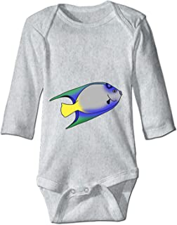 YSKHDBC Print Baby Creeper Birthday Fish Baby Bodysuit One Piece
