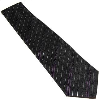 ff5a9fd0fd73 Polo Ralph Lauren Purple Label Mens Black Stripe Silk Tie Italy Hand Made