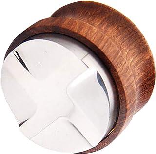 PETSOLA コーヒーディストリビュータータンパー、コーヒーレベラーは51mm 53mmに適合、木製ハンドル - 51mm4アングルスロープ