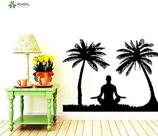 xinyouzhihi Tatuajes de Pared Vinilo Dormitorio Remoción Etiqueta de la Pared Yoga Decal Meditation Studio Poster 57X71CM