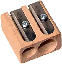 Kum 107.02.01 Wood 2-Hole Steel Blade Pencil Sharpener, Colors Vary 2 Pack