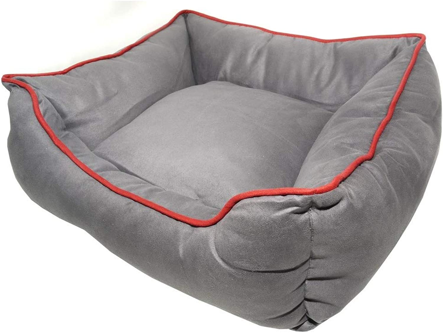 Nano Pet Products Dog Gone Nanosuede Lounger Dog Bed (26 x 24in) (Graphite)