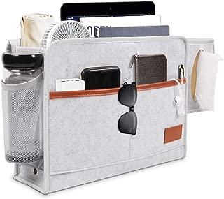Libro Remoto BESTZY Bolsillo de Fieltro para Cama Organizador de la Cama Bolsa de Almacenamiento para Sof/á Dormitorio Bolsa organizadora para Colgar para el Tel/éfono Gris Claro Gafas