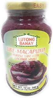 Lutong Bahay Ube-Macapuno Purple Yam with Coconut Sport, Net Wt 12oz 340g