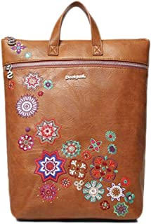 Luxury Fashion   Desigual Womens 19WAKP07BROWN Brown Backpack   Fall Winter 19