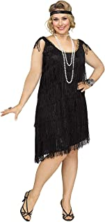 Women's Shimmery Flapper Plus Size Costume