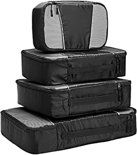 Travel Packing Cubes - 4 Set Lightweight Travel Luggage Packing Organizers -Small, Medium, Large and Extre Large