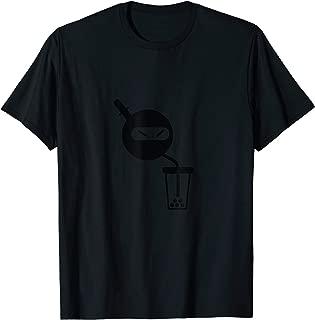 Funny Ninja Drinking Boba Milk Tea T-Shirt