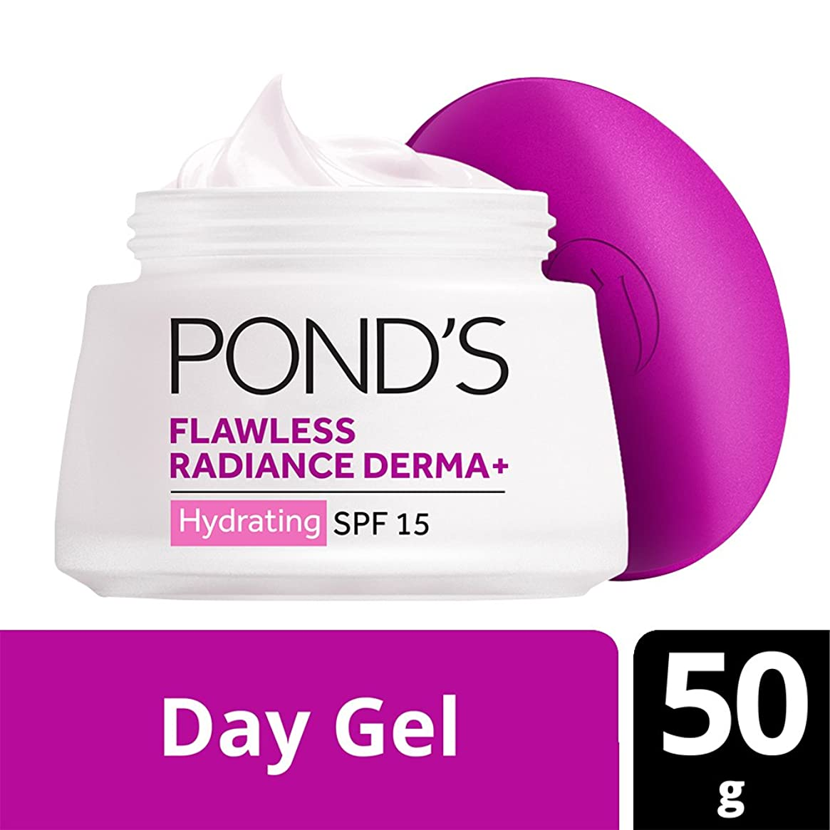 完全に不健全流暢Pond's SPF15 PA++ Flawless Radiance Derma+ Hydrating Day Gel, 50g (Parellel Import)