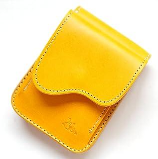 革蛸オリジナル台形コインケース イタリアンカラーサドル/黄金