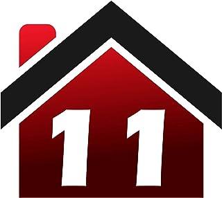 RJWprint Stickers voor vuilnisbakken personaliseerbaar met adres/huisnummer 14 x 12 cm, 4 stuks