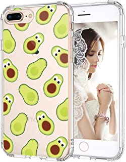 MOSNOVO iPhone 8 Plus Case, Clear iPhone 7 Plus Case, Avocado Pattern Printed Clear Design Transparent Plastic Back Case with TPU Bumper Protective Case Cover for iPhone 7 Plus/iPhone 8 Plus