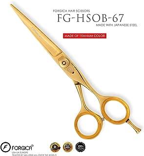 Professional Salon Shears Hairdressing Scissors Barber Shears Titanium Gold 6 inch - Forgica