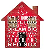 MLB Boston Red Sox Unisex Boston Red Sox House Sign, Team Color, 12 inch