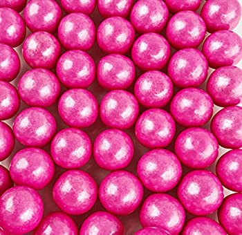 Large 1 Shimmer Pink Gumballs - 2 Pound Bags - About 120 Gumballs Per Bag - Includes How to Build a Candy Buffet Guide