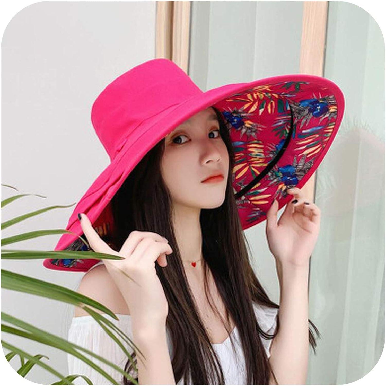Design Flower Foldable Brimmed Sun Hat Summer Hats for Women,