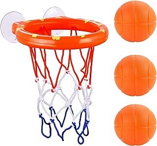 Bignc Bath Toy Basketball Hoop & Balls Set Bathtub Shooting Game for Boys & Girls - (3 Mini Basketball and A Basket)