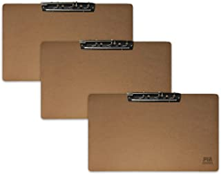 Paper Merlin Ledger Clipboard 11.6'' x 19.4'' - Horizontal MDF 11x17 Clipboard with Large Clip (3 Pack)