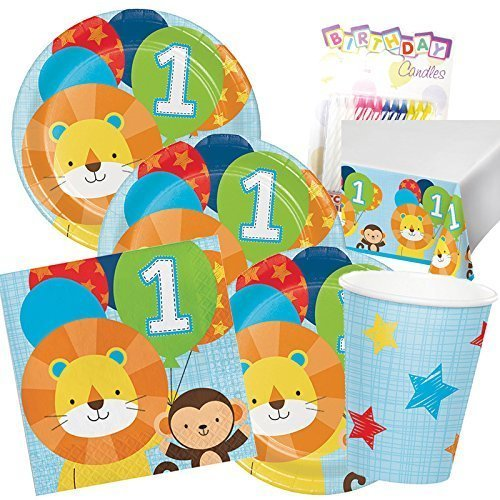 One Is Fun Boys Birthday Theme 1st Party Supplies Pack Serves 16