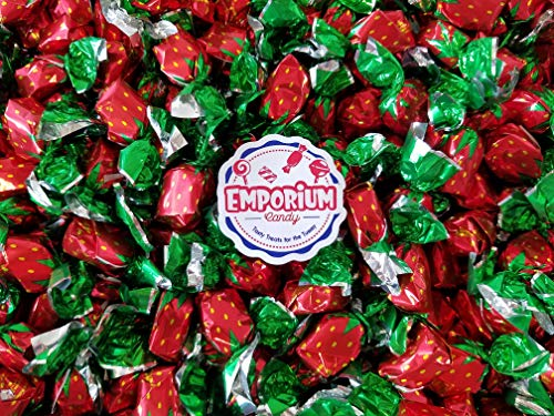 Colombina Strawberry Bon Bon Delights - 2 lbs of Individually Wrapped Assorted Fresh Sweet Bulk Candy with Refrigerator Magnet