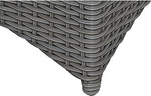 Siena Garden Lisboa–Mesa Auxiliar, plástico, Blanco/Gris, 49x 49x 45,5cm, 357743