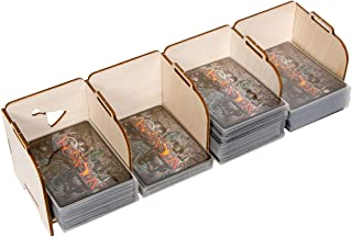 The Broken Token Stacking Tabletop Card Holder - Standard 4 Tray