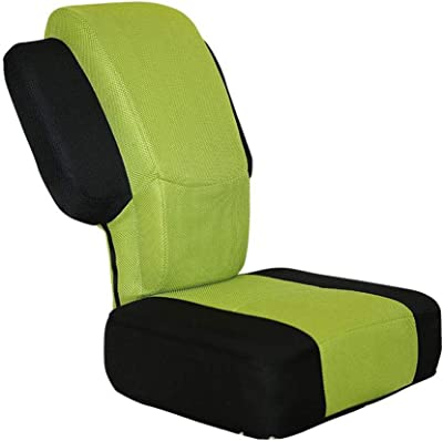 Adjustable Gaming Couch Floor Chair Lazy Lounge Sofa Reclining Backrest Single Meditation (Green)