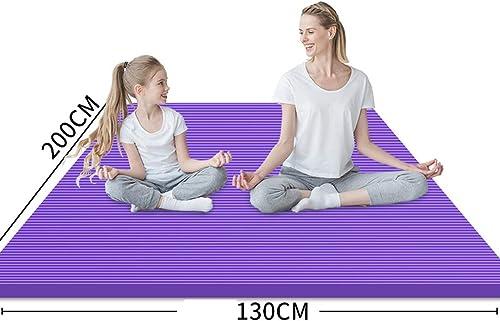 Tapis de Danse de Yoga Tapis de Danse à Domicile Enfants pratiquent Un Tapis, Fille débutant épaississement antidérapant élargi Longueur 130  200CM LJJOZ (Couleur   violet, Taille   15mm)