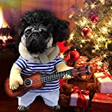 Idefair Funny Guitar Dog Costumes Pet Clothing Dog Clothes Suit for Puppy Small Medium Dogs Chihuahua Teddy Pug Christmas Party Halloween Costumes Outfit (L)