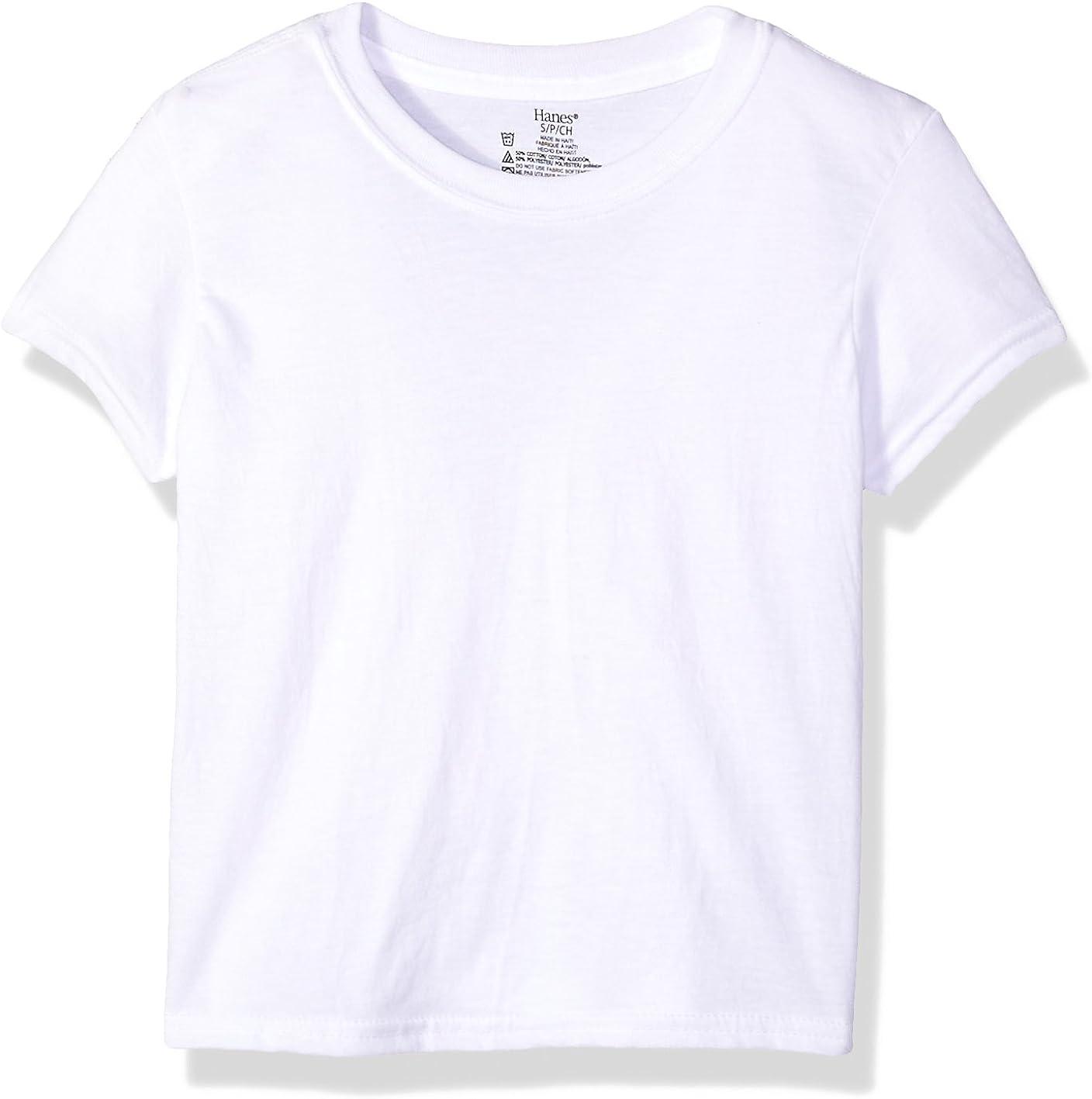 Hanes Boys' Big Ultimate Cool Comfort Crewneck Undershirt 5-Pack