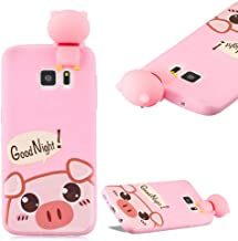 Cistor Cartoon Case for Samsung Galaxy S7 Edge,Fashion Cute Printed 3D Animals Character Doll Design Cover Anti-Scratch Flexible Slim Fit Soft TPU Silicone Case for Samsung Galaxy S7 Edge,Cute Pig