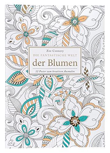 Idena 68140 - Libro para Colorear para Adultos, diseño de Flores, 12 Hojas, para Crear Obras de Arte Creativas, como compensación para la Vida Cotidiana y para Ocio y Vacaciones