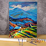Kit de pintura de paisaje Etude por números pinturas acrílicas 40x50cm lienzo cuadros decoración de pared niños artesanía dibujo a mano Pintura-por-números