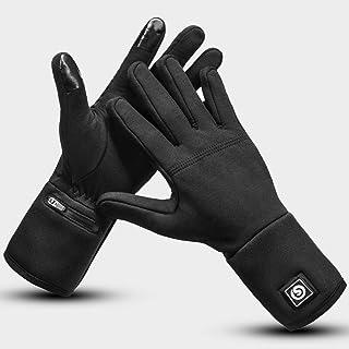 Uppvärmda handskar foder elektriska handskar för män kvinnor uppladdningsbart batteri vattentät handvärmare för artrit Ray...