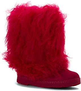 Bearpaw Womens Boetis Leather Closed Toe Mid-Calf Fashion Boots