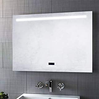 Gatesea Bathroom Wall-Mounted Vanity Mirror Makeup Mirror, Bluetooth LED Lighted Bathroom Mirror, Touch Switch Control Waterproof Mirror for Multipurpose