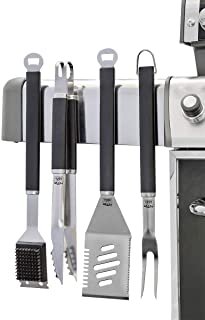 Yukon Glory 4 Pc Professional Grilling Tools Set, Strong Magnets Attaches to Your Grill, Ensure Surface is Magnetic