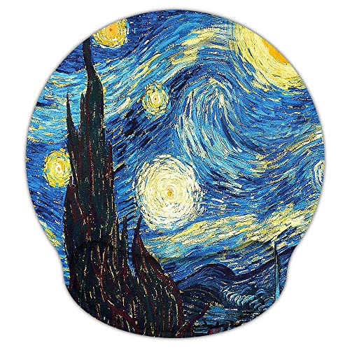 Mouse Pads for Computers Ergonomic Memory Foam Nonslip Van Gogh Wrist SupportLightweight Rest Mousepad for OfficeGamingComputer Laptop amp MacPain Reliefat Home Or Work Starry Night